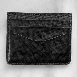 Cuyana Black Leather Card Holder